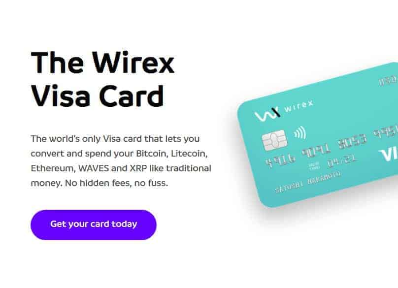 Wirex Wallet Visa Payment Card